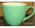 Ribbed Green Retro Mug Vintage