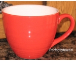 Ribbed Red Retro Mug Vi..