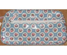 Cath Kidston Washbag Circle Ditsy Blue Floral Oilcloth Toiletry