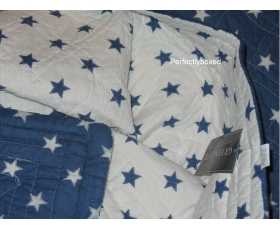 Greengate Quilt Star Indigo Blue Single