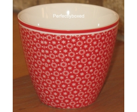 Greengate Latte Cup Lina Red Vintage Retro