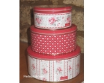 Greengate Set 3 Tins Vilma Red Small Cake Storag..