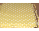Seat Chair Pad Cushion Yellow Polka Dot Spot Ret..