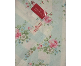 Greengate Tea Towel Marie Pale Blue Vintage Pink Floral