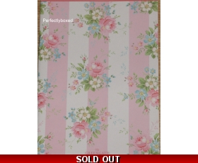 Greengate Marie Pale Pink Notebook Pink Floral Notepad A5