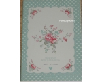 Greengate Abelone Mint Notebook Pink Floral Note..