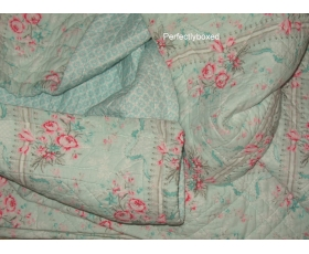 Greengate Quilt Betty Mint Single 140 x 220 Green Floral