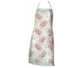 Greengate Apron Betty Mint Vintage Floral with Frill