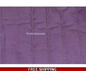 Purple Bed Runner Throw Quilted Topper Funky 70s Retro