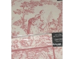 Toile de Jouy Percale Duvet King Pink + 2 oxford..