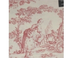 Toile de Jouy Percale Duvet Super King Pink + 2 ..