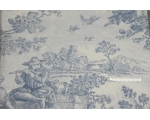 Toile de Jouy Percale Duvet Single Blue + pillow..