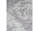 Toile de Jouy Single Lilac Bedspread Quilt Purpl..