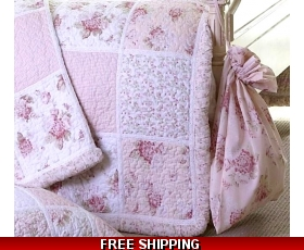 Laundry Bag Pink Floral Shabby Vintage Chic