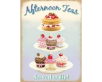 Afternoon Teas Cupcake Metal Wall Sign Retro