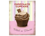 Chocolate Cupcakes Metal Wall Sign Retro