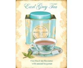 Earl Grey Tea Metal Wall Sign Retro Vintage