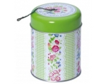 Greengate Tin Garden String Holder Green Gingham..