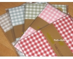 Pink Gingham Tablecloth..