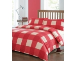 Red Check Single Duvet Cover Set Newquay Tartan