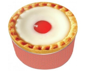 Cherry Bakewell Cake Storage Tin Retro