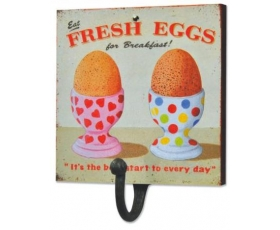 Wiscombe Single Hook Fresh Eggs Retro Kitchen