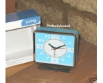 Retro Alarm Clock Blue ..