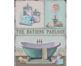 The Bathing Parlour Metal Wall Sign Retro Vintage