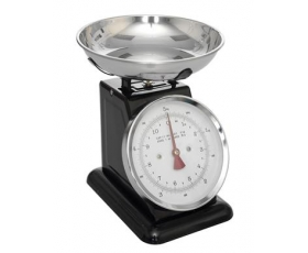 Retro Kitchen Scales 5kg Black Enamel Weighing