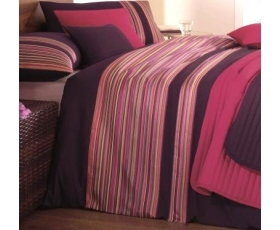 Purple Pink Ribbon Stripe Double Duvet Cover Boutique