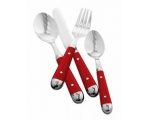 Red Cutlery 16 piece set Chrome Brasserie