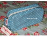 Cath Kidston Cosmetic Bag Mini Dot Blue Oilcloth