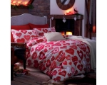 Red Hearts Single Duvet Cover Set Shaker Reindeer