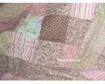 Bedspread Patchwork Paisley Pink Green Lilac Kin..