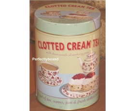 Wiscombe Clotted Cream Tea Storage Tin Retro Kitchen Cannister