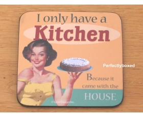 Robert Opie Coasters I only have a Kitchen Joke Drinks Mat