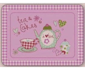 Cupcake Placemats Set 4 Pink Retro