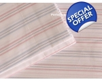 Duvet Pyjama Stripe Pink Blue White Single + 1 o..