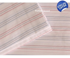 Duvet Pyjama Stripe Pink Blue White Single + 1 oxford pcase