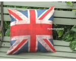 Union Jack Antique Cushion Cover Vintage Retro