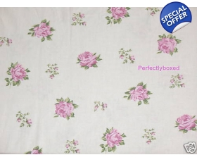 Deep Fitted Sheet Roses Pink Toile Single Vintage Style Floral