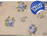 Duvet Covers Set Floral Roses Blue Cream Super K..