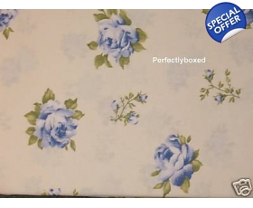 Duvet Covers Set Floral Roses Blue Cream Super King