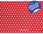 Red Polka Dot Single Du..