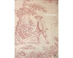 Toile de Jouy Duvet set Pink SuperKing + 2 pillo..