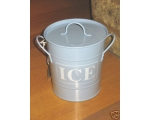 Enamel Ice Bucket Blue Drinks Cooler Party BBQ