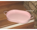 Enamel Oval Tray Pink Retro