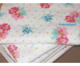 Hand Towels Vintage Floral Roses Pink Blue White Velour Cotton