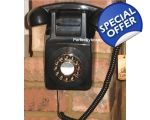GPO 746 Wall Phone Black Telephone 1970s Push Bu..