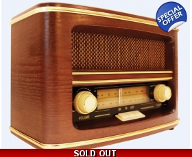 GPO Winchester AM FM Radio 50s Retro Wood Cabinet